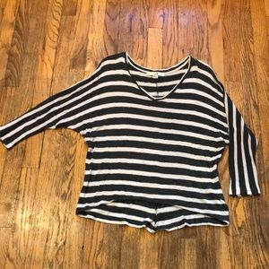 Women's striped sweater top size small